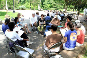 Saying Their Names is an annual event sponsored by KCA at Walter Pierce Park (photo by Gretchen Roberts Shorter)